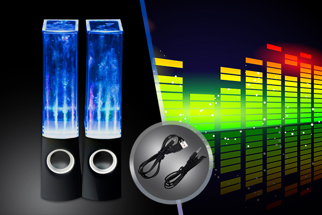 £19.98 instead of £39.99 (from Wowcher Direct) for a pair of dancing water speakers - watch the music flow and save 50% + DELIVERY INCLUDED