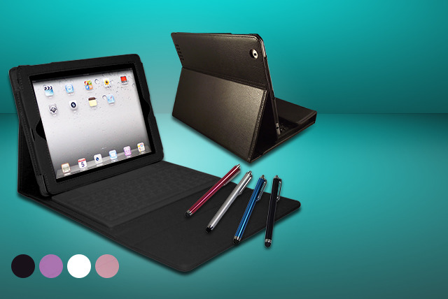 £16.99 instead of £63.98 (from Time 2) for a PU leather iPad case with integrated Bluetooth keyboard and touchscreen stylus pen - save 73%