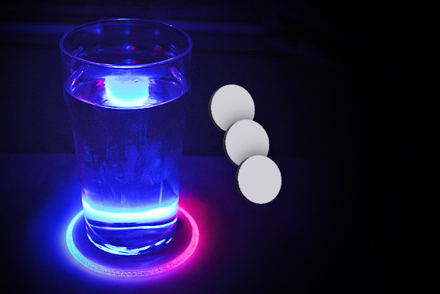 £8 instead of £20 (from 121-Mart) for 3 LED colour-changing coasters - serve drinks in style and save 60%