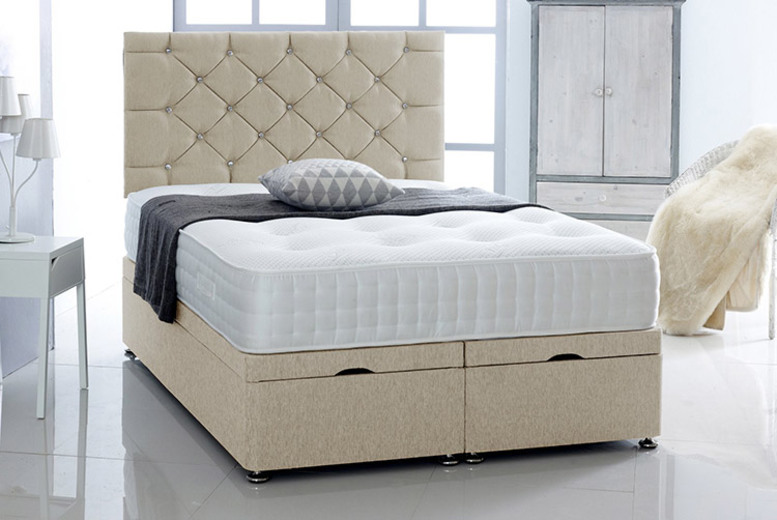 From £349 (from Serene Living) for a chenille ottoman bed with headboard and mattress – choose from five sizes and three colours