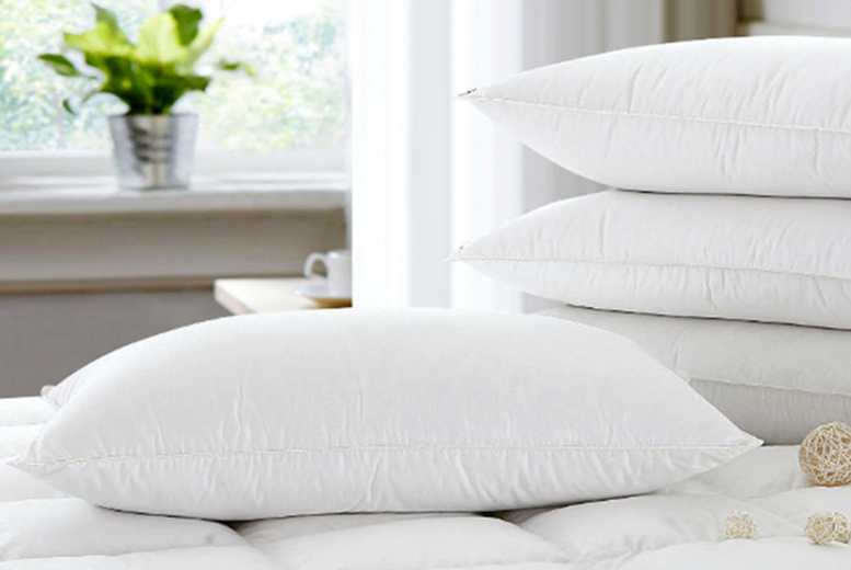 4 Extra Fill Goose Feather & Down Pillows (£17.99)