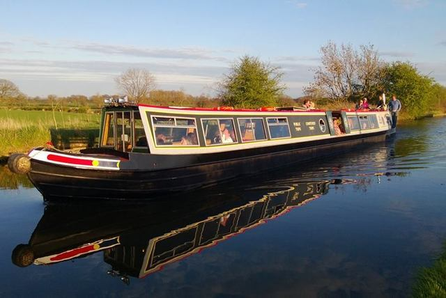 £29.99 instead of £49.95 for a 3-hour canal Valentine's cruise for 2 inc. fish and chips each on the Shropshire Union Canal with Norbury Wharf Ltd - save 40%