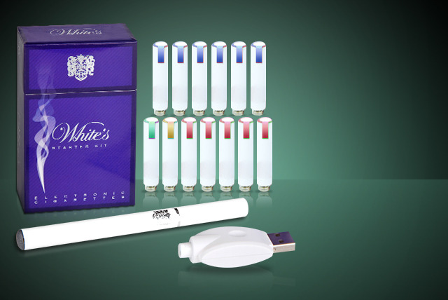 £14.99 (from White's Electronic Cigarettes) for a White's Bayonet e-cigarette starter kit bundle in a choice of flavours - save 67%