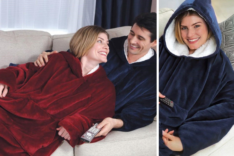 Cosy Oversized Blanket Hoodie – 4 Colours! (£12.99)
