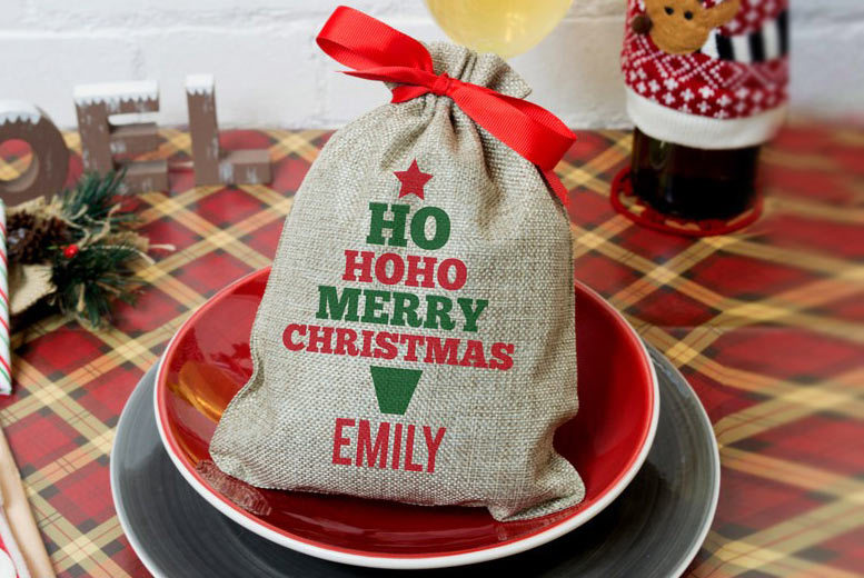 £2.99 instead £7.99 (from Shop Sharks) for a mini personalised Christmas sack, £4.99 for two - step in to the festive season and save up to 63%