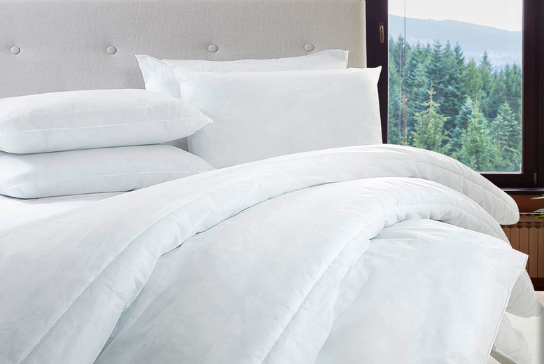 15 Tog Winter Warmer Duvet & 4 Pillows – 4 sizes! (£15)