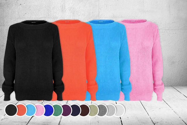 £12 instead of £24.95 (from Miss Chief) for an oversized fisherman jumper in a choice of colours – net a saving of 52%