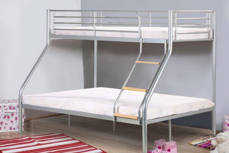 Metal Triple Bunk Bed with Mattress Option (£129)