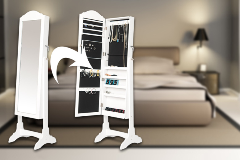 £99 for a white jewellery armoire with full-length mirror from Wowcher Direct