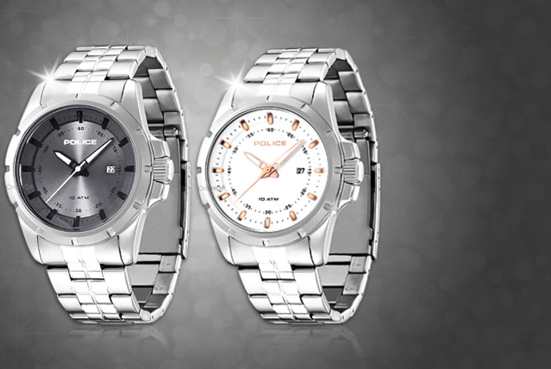 £55 instead of £109 for a men's Police Boston watch in grey or white from Wowcher Direct - save 50% + delivery included!