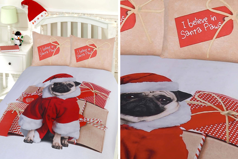 Christmas Animal Duvet Cover Set – 4 Designs! (£9.99)