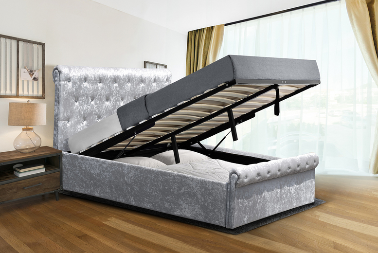 Marseille Ottoman Storage Bed with Optional Mattress – 2 Colours! (£164.99)