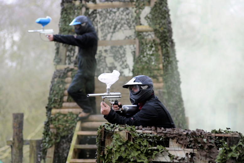 £10 instead of £148.50 (from Nationwide Paintball) for a day of paintballing for up to 10 people in a choice of over 60 locations - save 93%