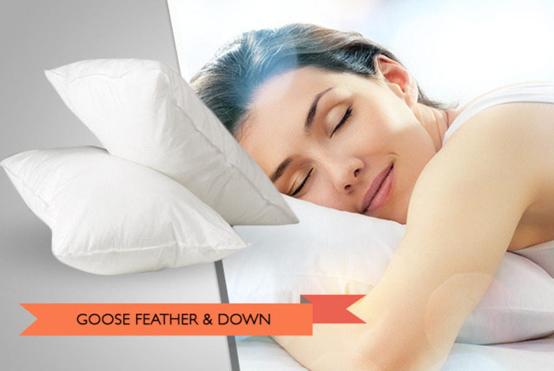 £7.49 for a goose feather and down pillow, £14.95 for 2 or £29.90 for pack of 4 from Wowcher Direct - save up to 50%*