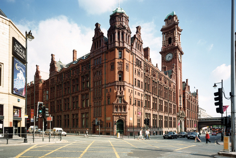 £79 instead of up to £186 (at 4* The Palace Hotel, Manchester) for a 1nt stay for 2 inc. breakfast and bottle of wine, £136 for 2nts - save up to 58%