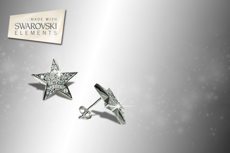 £7 instead of £50 (from Jewel Unique) for a pair of 18ct white gold-plated pavé star earrings with Swarovski Elements crystals - save 86%