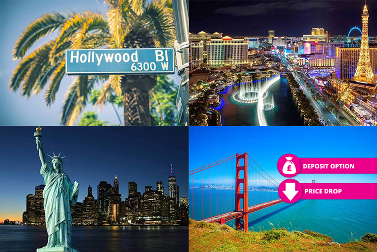 From £859pp (from Weekender Breaks) for a 10-night New York, San Francisco, Los Angeles and Las Vegas with flights, or pay a £195pp deposit - save up to 44% from Weekender Breaks