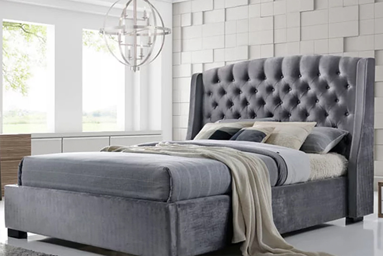 Grey Velvet Brando Bed – 6 Options! (£329)