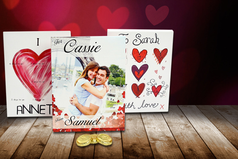 £6 instead of £9.97 (from Snapajack) for a personalised chocolate Valentine's countdown calendar - save 40%