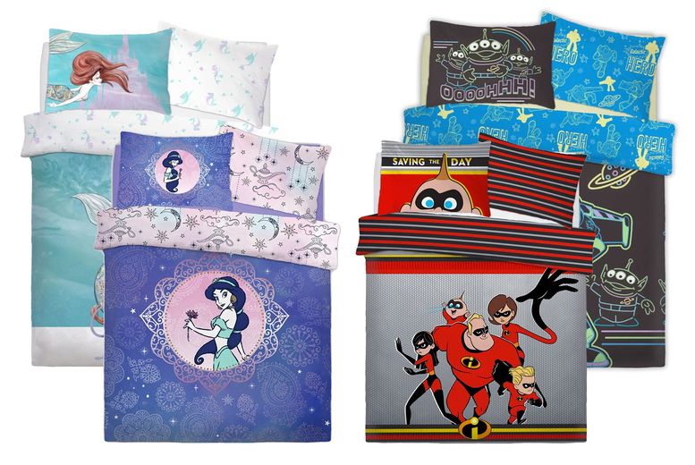Disney Themed Reversible Duvet Cover Set – 10 Designs! (£12.99)