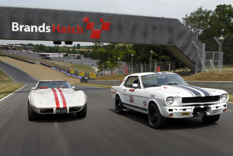 £19 for a Corvette passenger ride, £99 for a 6-mile Mustang driving experience with Classic American Muscle, Brands Hatch or Goodwood - save up to 37%