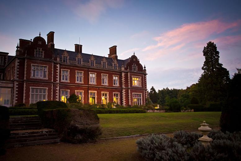 From £99 (at Lynford Hall Hotel) for a 1nt stay for 2 inc. dinner, Prosecco & breakfast or £165 for 2nts - save up to 50%
