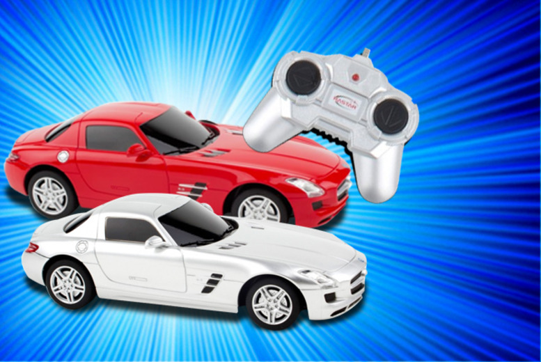 £10.99 instead of £46 for the Rastar Mercedes SLS AMG remote control car from Wowcher Direct - choose from 2 colours and save 76%