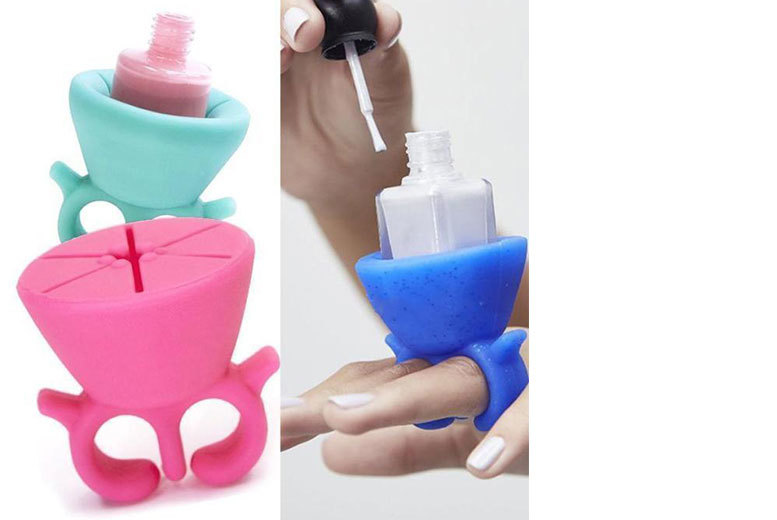 £3.99 instead of £23 (from Doohickey Hut) for a nail polish bottle holder – choose from pink, blue, green, red and turquoise and save 83%