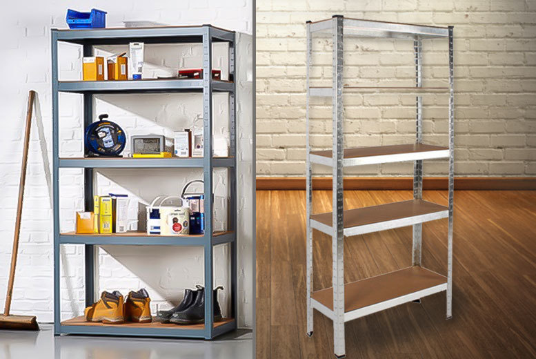 £22 instead of £199.99 (from Who Needs Shops) for a five-tier heavy duty racking unit - save a sturdy 89%
