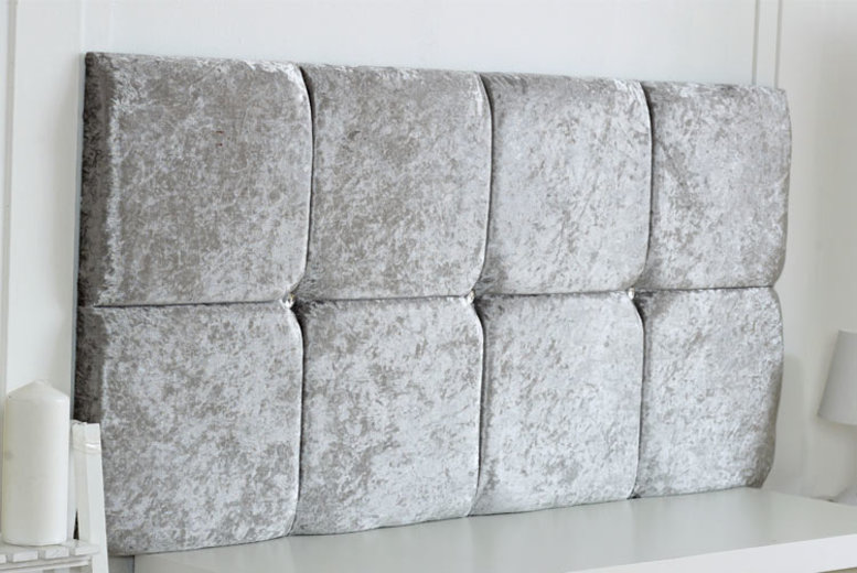 From £18 instead of £39 (from Serene Living) for a crushed velvet headboard – choose from five colours and six sizes and save up to 54%