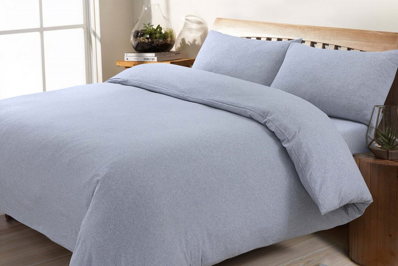 From £16.99 (from Five Minutes More) for a single cosy jersey fleece duvet covet set – choose your size and colour