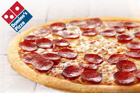 A medium (£1) or large (£3) pizza with your choice of toppings from your local Domino's Pizza - Available in Nottingham, Loughborough & Derby