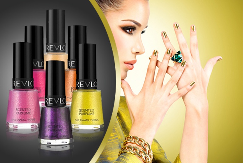 £12 instead of £19.99 (from Zuvo) for a pack of 6 scented Revlon nail varnishes – save 40%