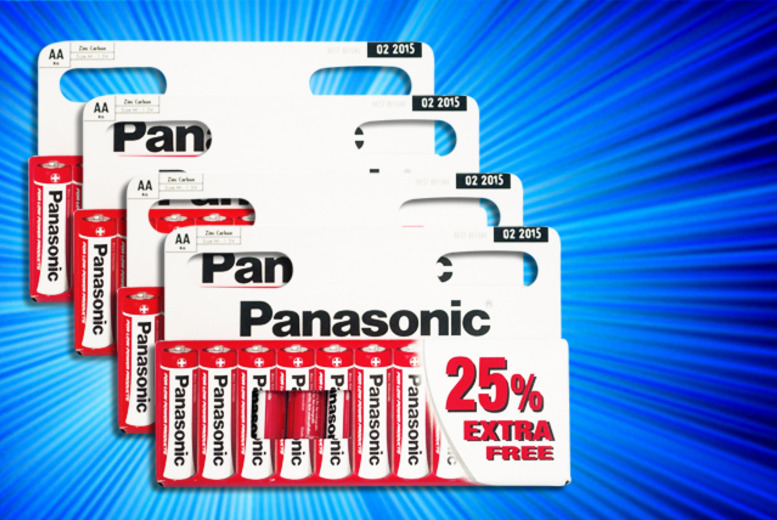 £4.99 instead of £8.98 (from Gadgets and More) for 20x Panasonic AA batteries, £6.59 for 30, £7.99 for 40 - save up to 44% + DELIVERY INCLUDED