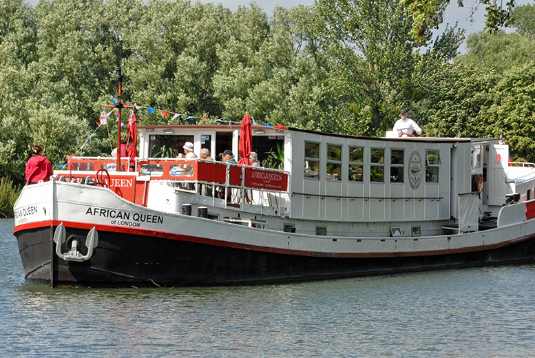 £129 instead of up to £260 (at African Queen Hotel, Reading) for a 2-night moored boat stay for 2 inc. Thames cruise - save up to 50%