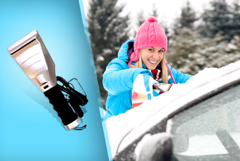 £5 instead of £18.99 (from Gadgets and More) for a heated ice scraper - wipe the ice from that windscreen and save 74%