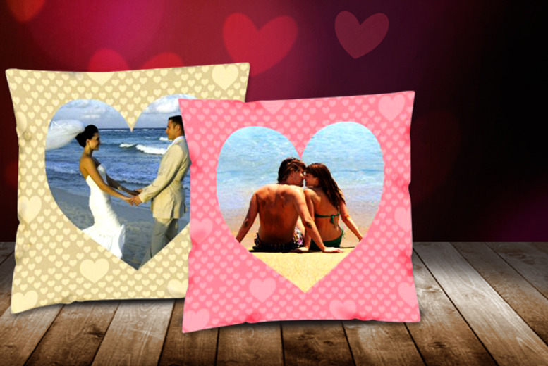 £9 (from Great Photo Gifts) for a 30cm x 30cm personalised Valentine's cushion in one of two designs or £14 for a 46cm x 46cm cushion – save up to 50%