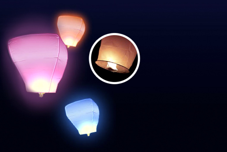 £9.99 instead of £34 (from Sky Lanterns Online) for 10 eco-friendly white Chinese lanterns, or £10.99 for mixed colour lanterns - save up to 71%