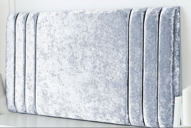 From £22 instead of £50 for a crushed velvet headboard from Serene Living - save up to 57%