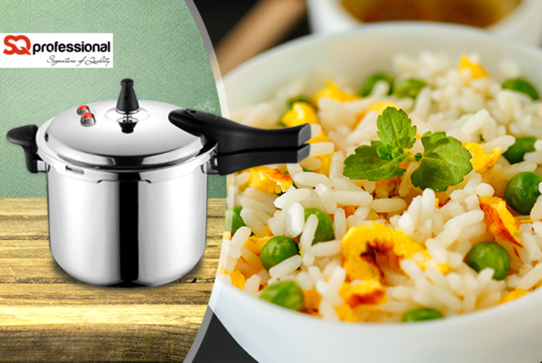 £13.99 instead of £34.99 (from SQ Professional) for a 4.8 litre aluminium pressure cooker, £18.99 for a 9 litre pressure cooker - save up to 60%