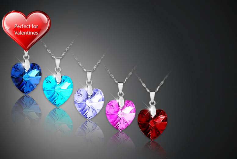 £8 instead of £49.99 for a Swarovski Elements love heart necklace from Marcus Emporium - follow your heart and save 84%