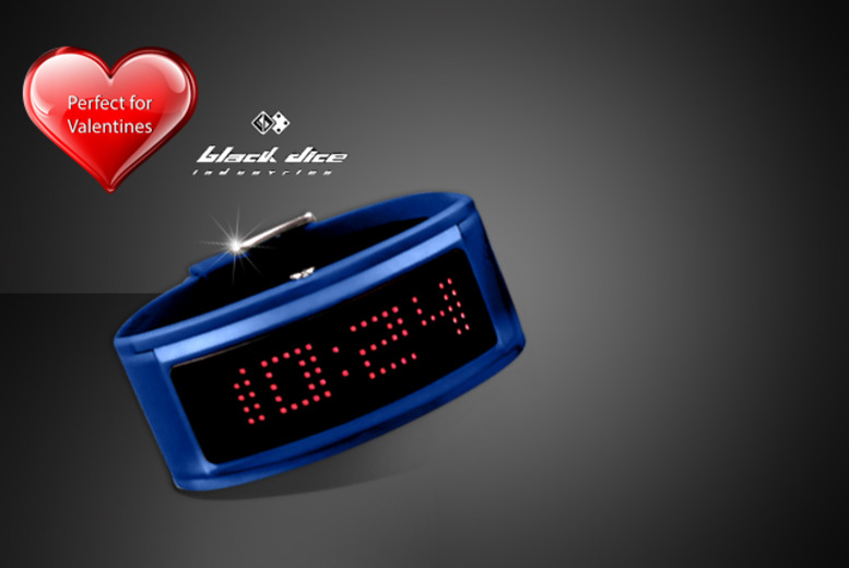 £29 (from Watches2U) for a Black Dice 'Guru' blue digital watch with scrolling LED display