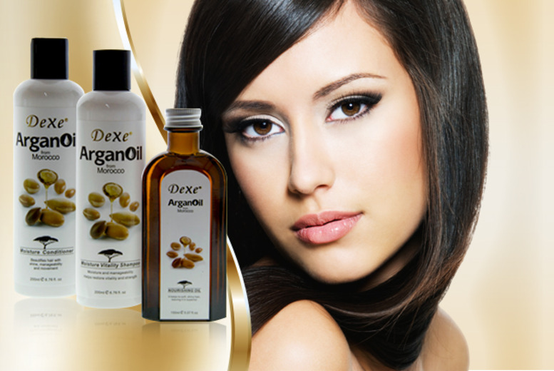 £12.99 instead of £59 (from DVA Beautique) for a 3pc Argan Oil hair pamper pack inc. shampoo, conditioner and oil - save 78%