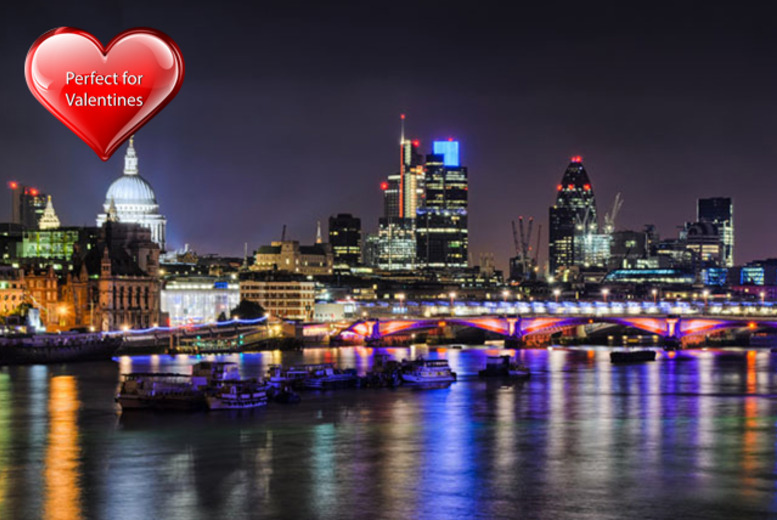 £29 instead of £75.50 for a Valentine's Thames cruise with BBQ supper, glass of bubbly & nightclub entry from Thames River Tours, Westminster - save 62%