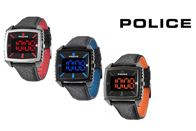 Mens Digital Police Watch