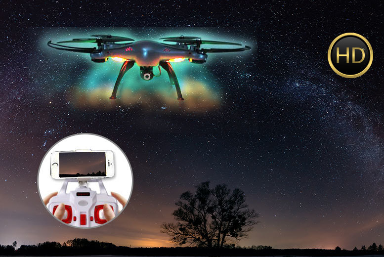 £59 instead of £195 (from Surreal) for a HD camera quadcoptor drone - choose either blue or white and save 70%
