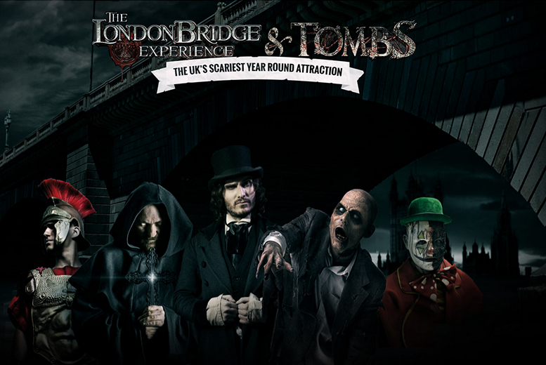 £16 instead of up to £26.95 for an adult or child ticket to The London Bridge Experience Halloween special - save up to 40%