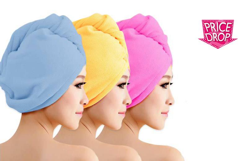 3 microfibre hair towels