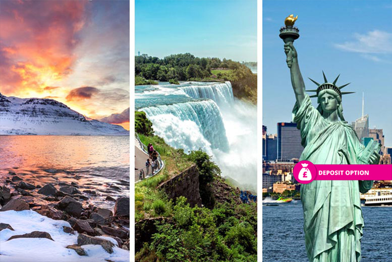 From £599pp (from Weekender Breaks) for a six-night Reykjavik, Niagara Falls and New York holiday with flights and inter-city transfers, from £759pp for nine-nights, or pay a £299pp deposit today - save up to 55% from Weekender Breaks
