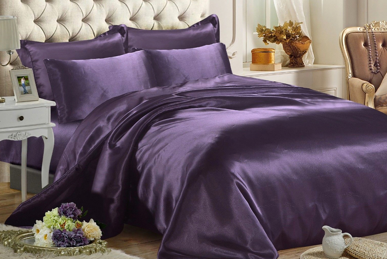 6pc Satin Duvet Cover Set – 9 Colours & 3 Sizes! (£14.99)